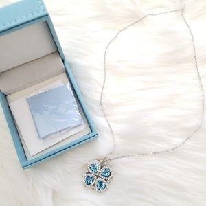 Jewelry - Four Leaf Clover Swarovski Crystal Necklace